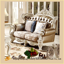 Living Room Wood Sofa Set Furniture/English Classic Style Sofa Furniture