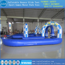 TOP inflatable go kart track for racing sport game