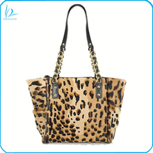 High quality genuine horse hair leather tote bag