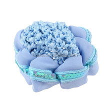 Glitter Sequins Detail Flower Shape Hair Snood Ponytail Holder Hair Scrunchie Snood Bun Net with Shiny Sequins Strips