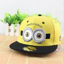 Hot selling fashion minion baseball cap making machine 100% cotton hiphop hat