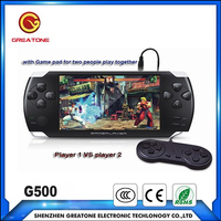 4.3inch handheld game mp5 video game console with gamepad for 2 player