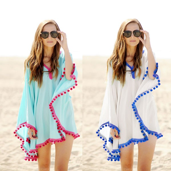 sheer silk tassel beach cover ups factory beach dress