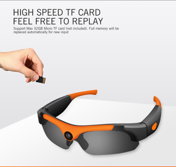 Hidden Spy Built-in 1080P Action Camera Glasses Wear SM16