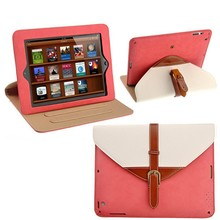 Fashion Brand New Smart Cover For Apple for iPad 2/ 3/ 4 Case Pu Leather 360-degree Rotating Stand 2014 Luxury Cover Case