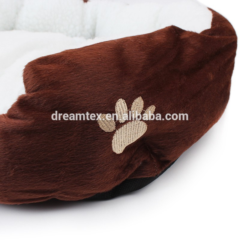 Hot sale plush berber fleece dog bed cute pet bed