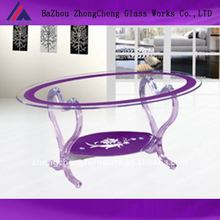 Modern crystal heart-shaped coffee table