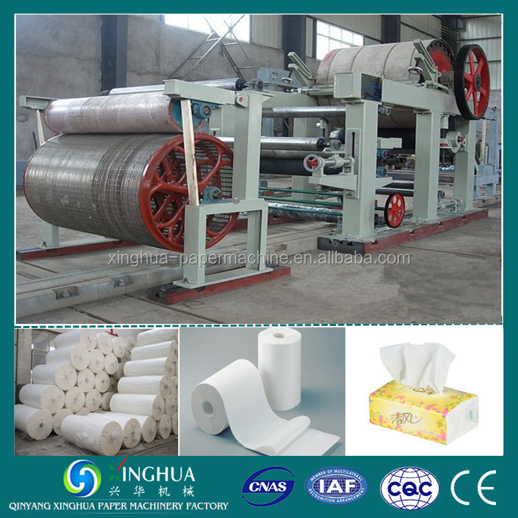 Fourdrinier type big processing capacity toilet tissue paper making machine