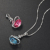 925 Silver Fashion Friend Crystal  Jewellery Women Pendant Necklace