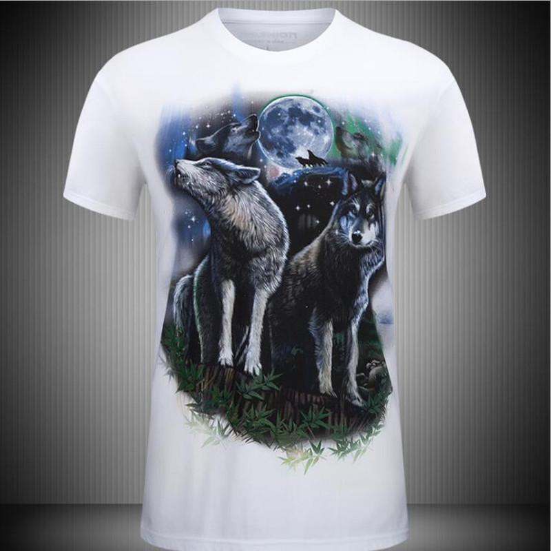 2017 fashion men's 3D printing T-shirt personalized pull-over short sleeves chinese clothing manufacturers