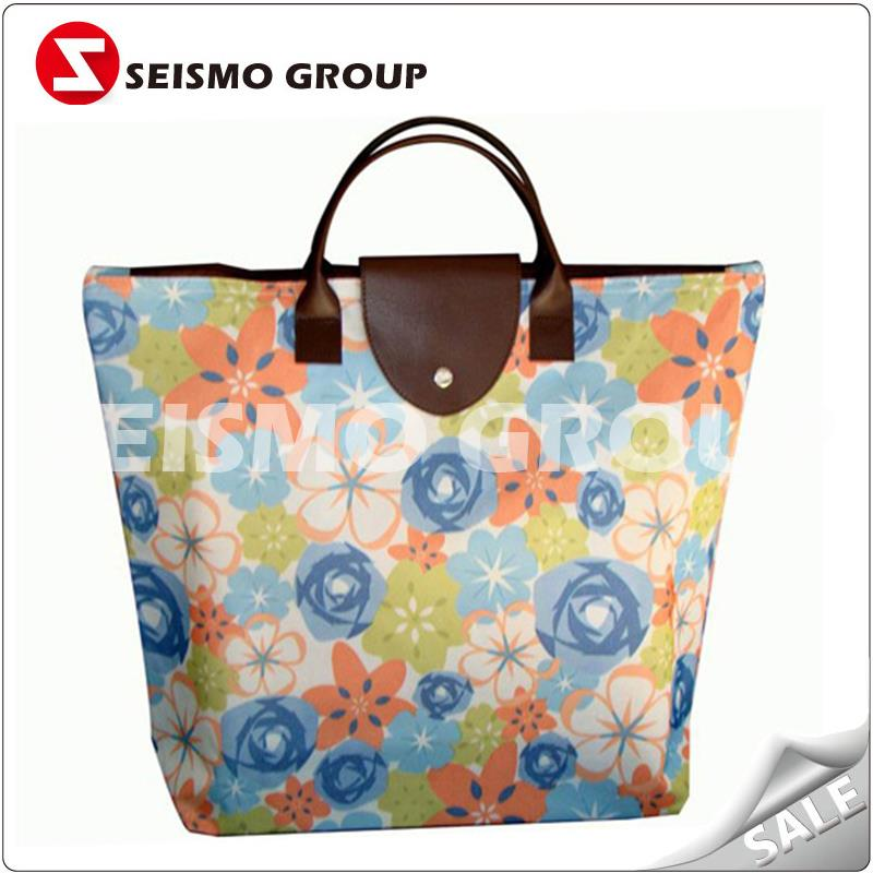 diy foldable pp non woven shopping bag bag with pvc handle