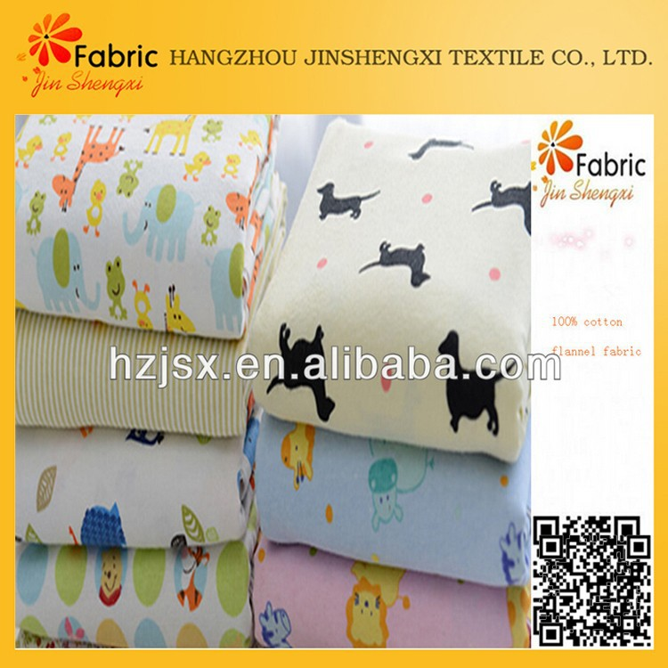 10# 100% cotton animal printed cloth and bedding sets fabric for baby