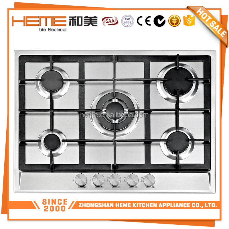 Family cooking 70cm LPG/NG 5 burner gas stove with oven (PG7051S-A2CI)