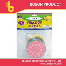9 pcs colors fraction circle