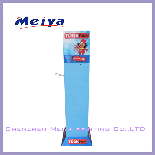 2014 NEW design cardboard peg hook floor display stand 4 sides hook display stand for hanging mobile accessories supplier China