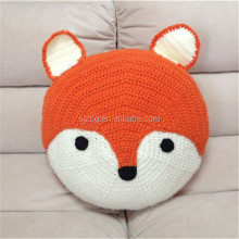 crochet <strong>animal</strong> fox shaped cushion and pillows