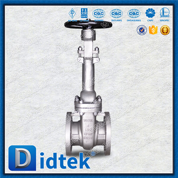 30 years experience Didtek water medium gate valve with API standard