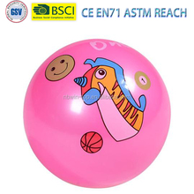 hot sale multi sizes inflatable Eco-friendly pink PVC labeling Ball printing domestic bird