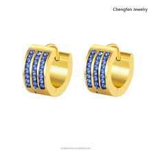Hot Sale 316L Stainless Steel Chandelier Hoop Earrings Metal Huggie Rhodium Color Mens Earrings