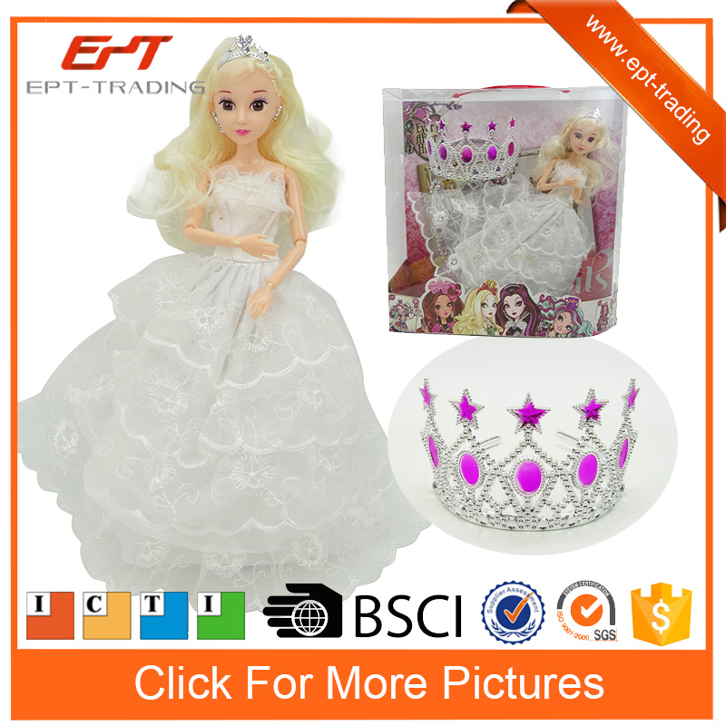 Cheap doll 11inch fashion wedding dress doll for kids