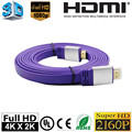 High speed 18Gbps 2.0 flat hdmi cable 4K 3D 3ft 6ft 10ft 15ft 25ft 30ft 75ft