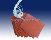 silicone heater heat transfer for laser printer