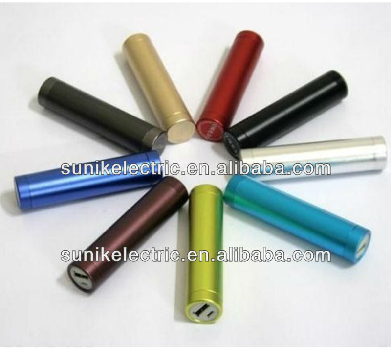 2013 Hot selling cylinder shaped pocket sized mini mobile charger powerbank 2200mah