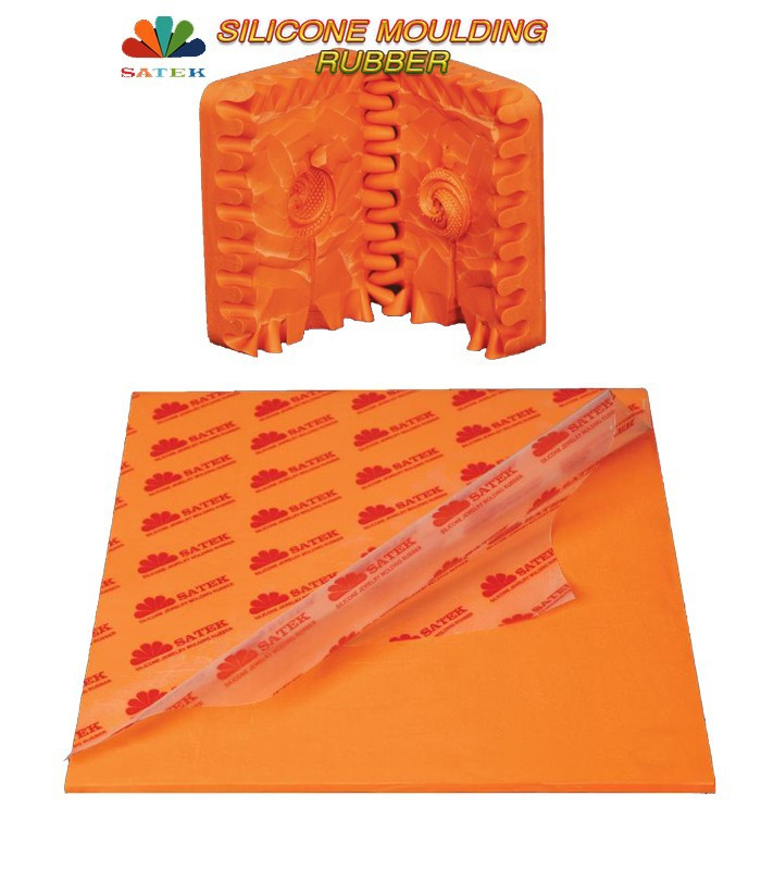 Satek Special Orange Silicone Jewelry Molding Rubber