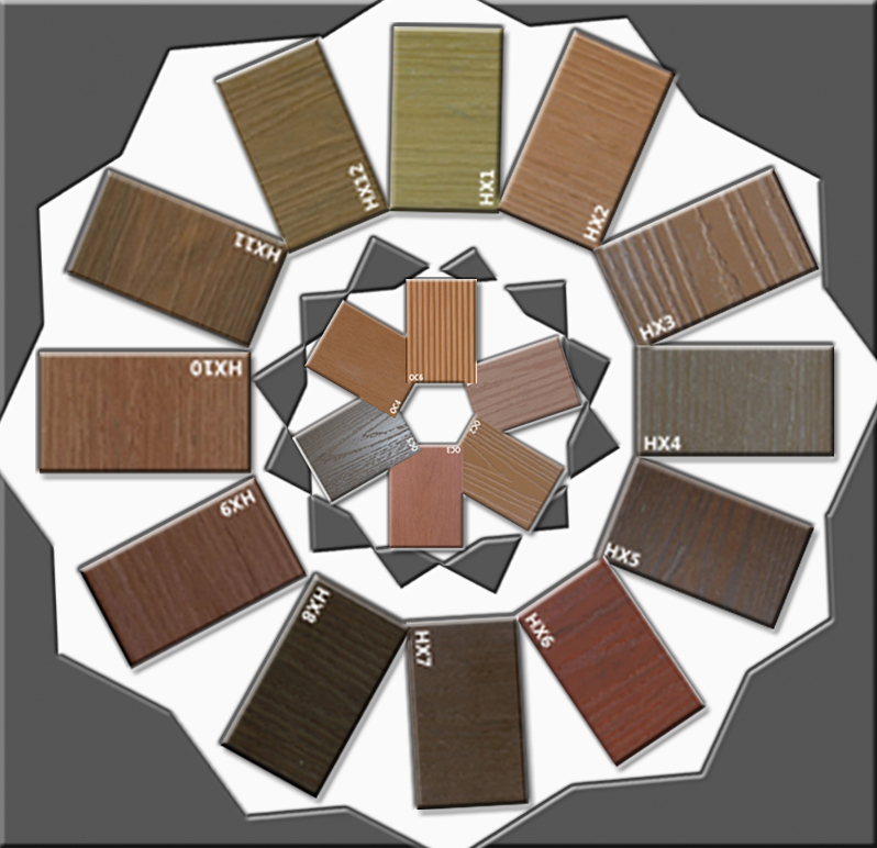 pvc anti-aging hollow composite decking board,CE,SGS