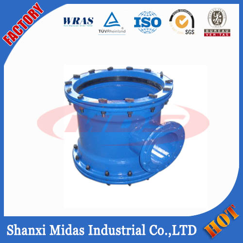 Ductile Iron Mechanical Joint Pipe Fitting, K Type Bolted Gland Pipe Fitting