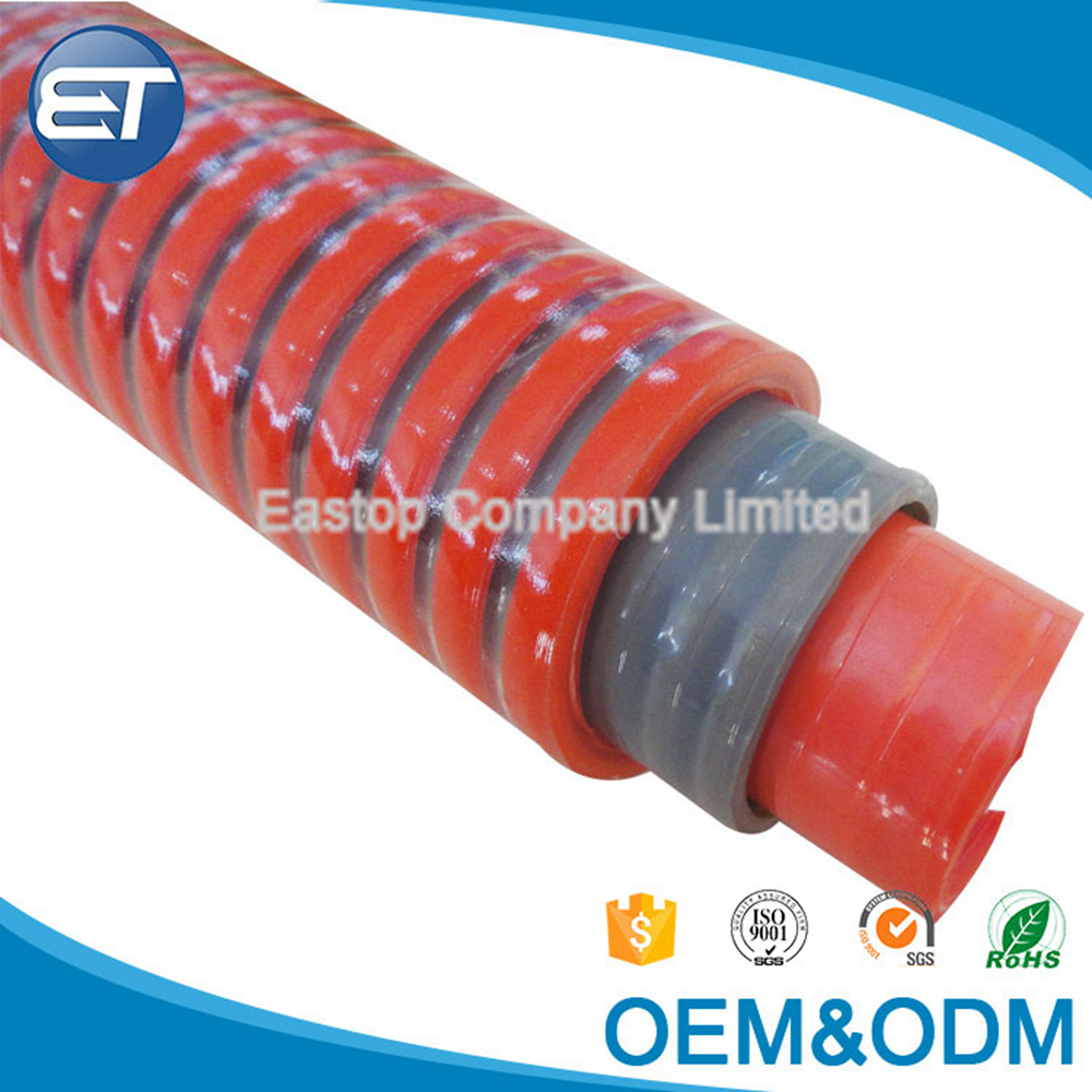 EASTOPS Customized Flexible Spiral Discharge Reinforced PVC Suction Water Pump Hose For Irrigation Sale
