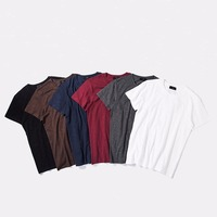 100% cotton plain colorful tees blank t-shirts