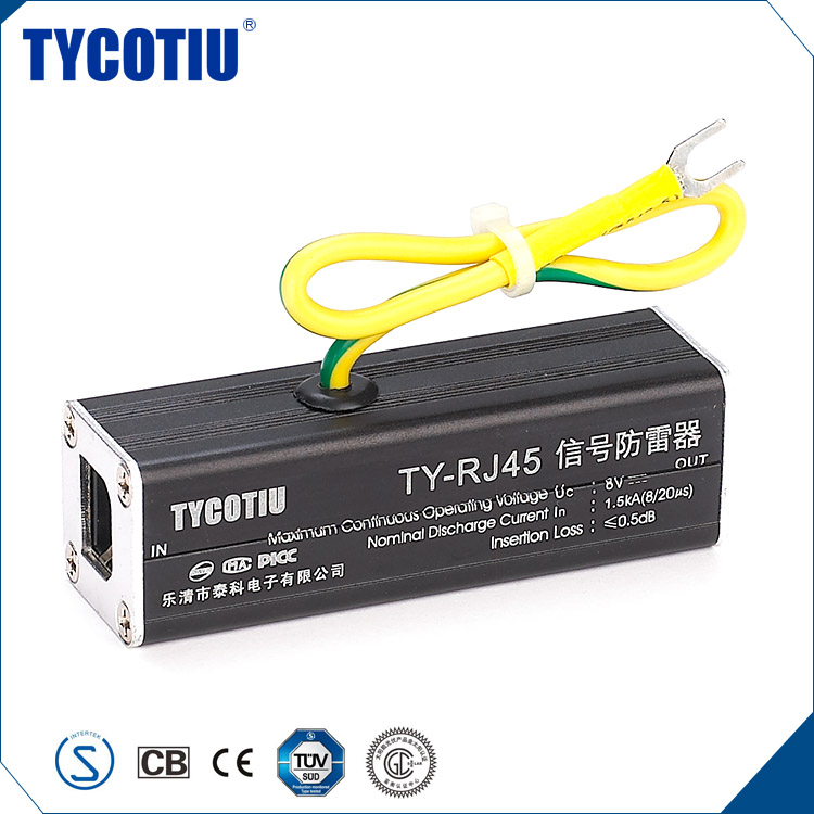 TYCOTIU 2017 Wholesale China Import Arrester Rj45 Surge Protector/ Network Signal Spd