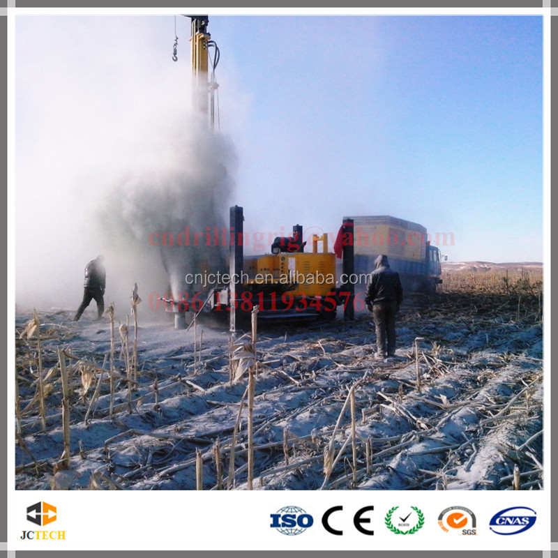 Hole diameter 105 - 400mm hydraulic water well drilling equipment by air DTH hammer drilling and mud drilling