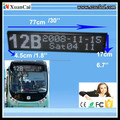 Semi-outdoor White color P7.62_Muti-line 16 X96 LED Bus Display Board/LED Bus scrolling pannel/LED Bus route Display board