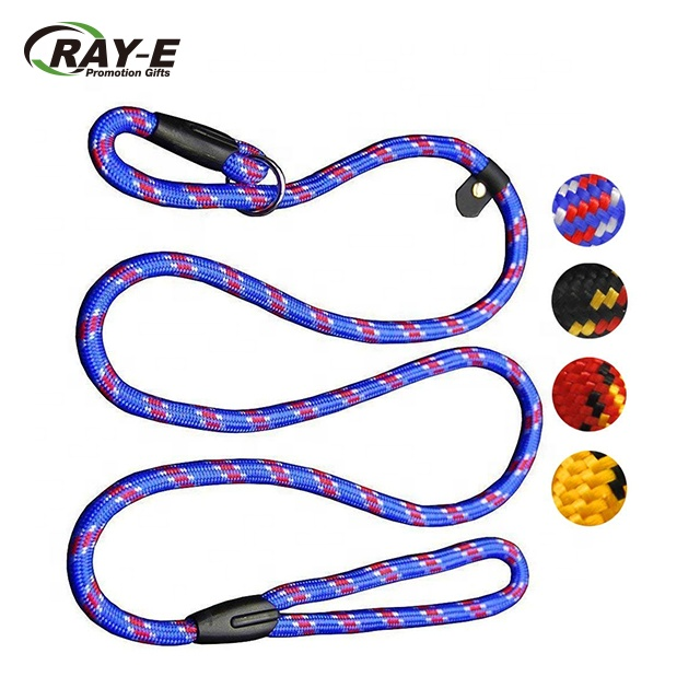 <strong>P</strong> Type Chain Nylon Rope Pet Dog Training Leash, 5 FT Dog Pet Training Leash, Pet Training Leash for Small Medium Dogs(10-80 lb)