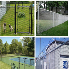 chain link fence barrier for dog or kids
