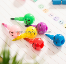 Cute cartoon crayon sugarcoated haws on a stick water color brush