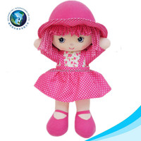 Cheap wholesale pretty rag girl doll handmade fashion kid toy soft plush stuffed doll