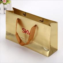 High quality exquisite free sample white kraft paper bag for shopping