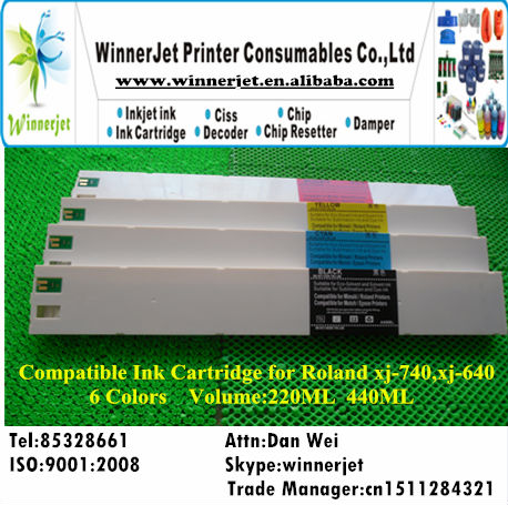 Full Ink Compatible Ink Cartridge for Roland xj 640