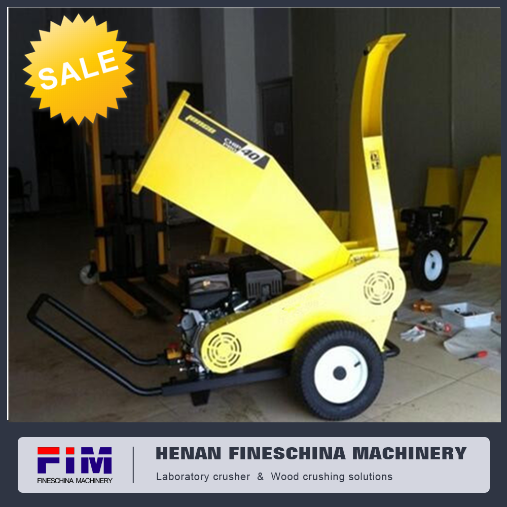 6.5hp gasoline engine bamboo chipping machine/wood branches crusher