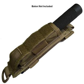Tactical Molle Baton Holder Strong Elastic Pouch for ASP Monadnock with Strong Retention