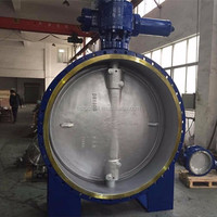 Carbon steel flange actuator Butterfly Valve DN1800 ANSI DIN turbine