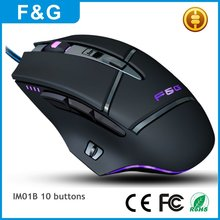 USB Optical Drivers 10D Ergonomic Wired Gaming Mouse from China