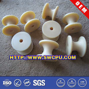 Plastic cable rollers guide