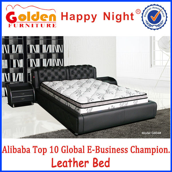 Alibaba cheap price bedroom furniture indian double bed designs for sale G804