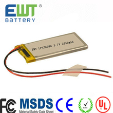 Lithium-Ion Polymer Batteries 601245 3.7V 250mAh for wireless meter reading