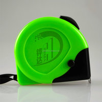 green yellow measure tape,tape measure with one brake ,steel measuring tape