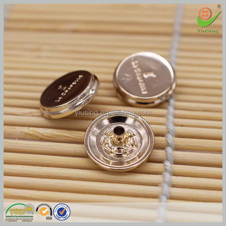 Round decorative custom logo cover snap fasteners snap buttons